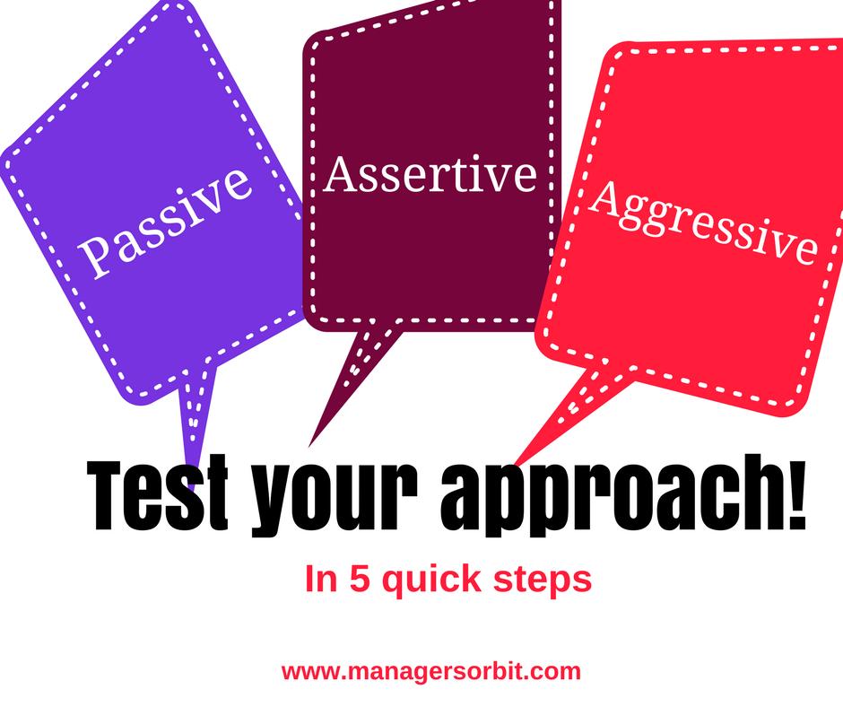 Are you passive aggressive or assertive quiz